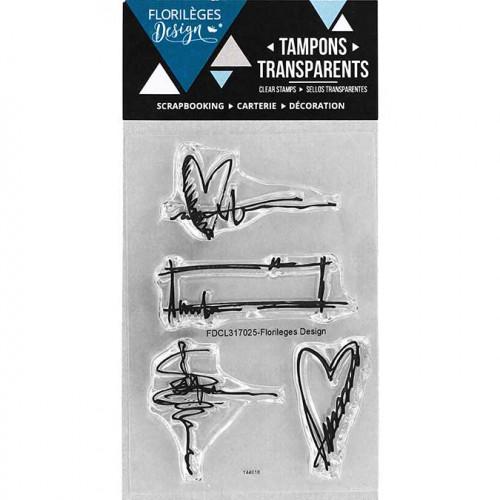 Capsule Septembre 2017 - Tampons clear - Petit gribouillis - 4 pcs