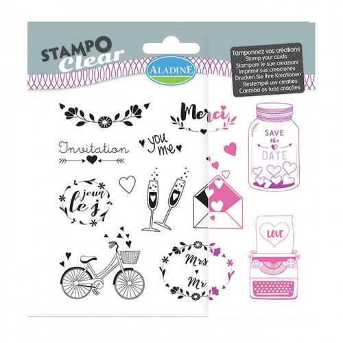 Stampo Clear Mariage - Set de 12 tampons