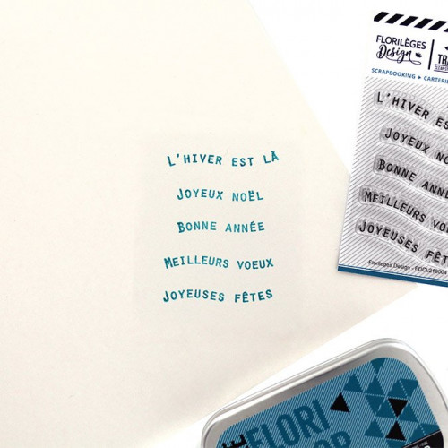 Tampons transparents Mots bannières 1