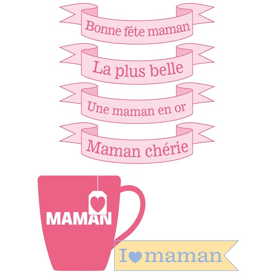 Tampons Clear Bonne Fête Maman