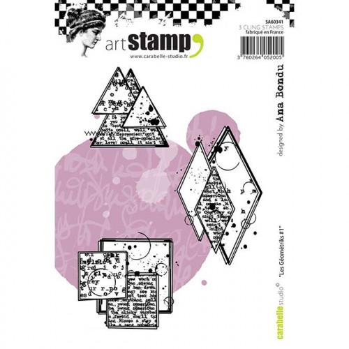Tampons Cling - Géométrie #1 - 3 pcs
