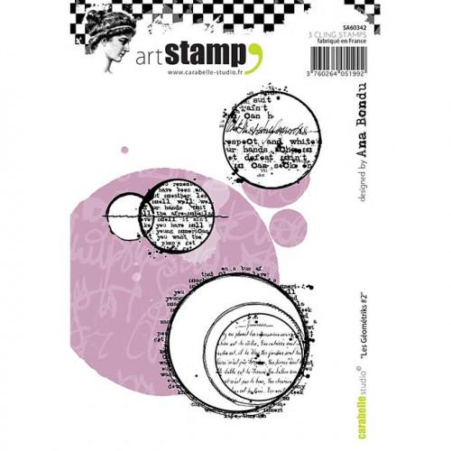 Tampons Cling - Géométrie #2 - 3 pcs