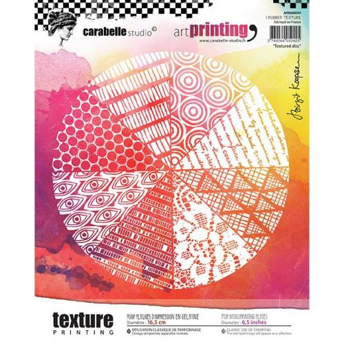 Tampon texture rond pour Gel Press : Textured Disc - 16,5 cm