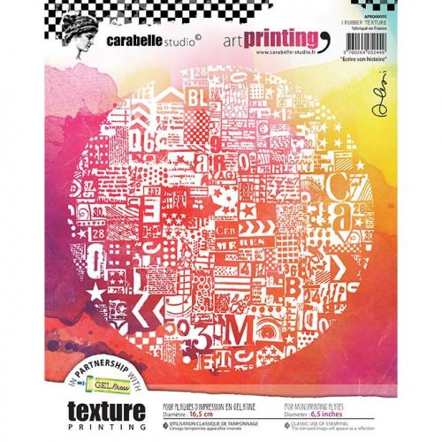 Tampon texture rond pour Gel Press : Ecrire son histoire - 16,5 cm