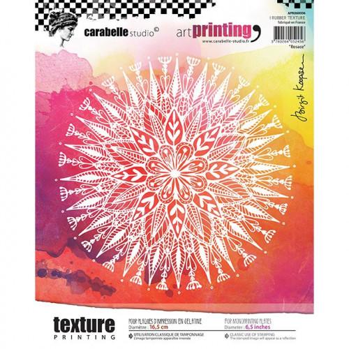 Tampon texture rond pour Gel Press : Rosace - 16,5 cm