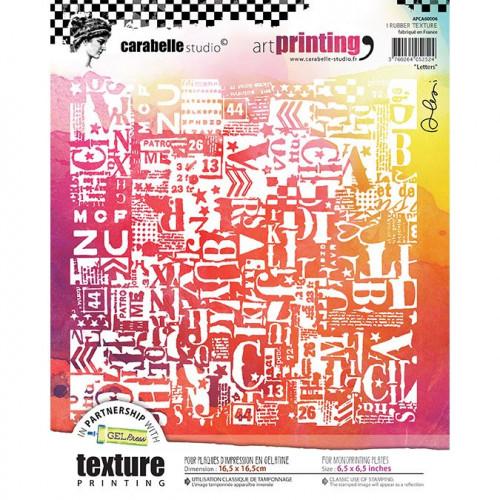 Tampon texture carré pour Gel Press : Letters - 16,5 x 16,5 cm