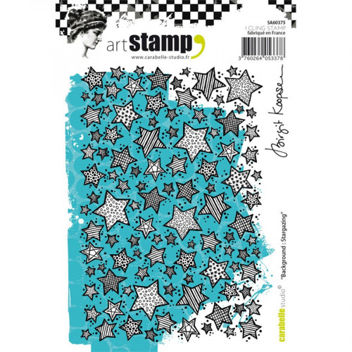 Tampons Cling Fond : Stargazing - A6