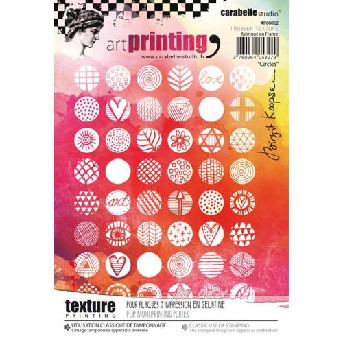Tampon texture pour Gel Press Circles - A6