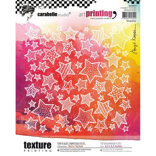 Tampon texture carré Stargazing - 16,5 x 16,5 cm