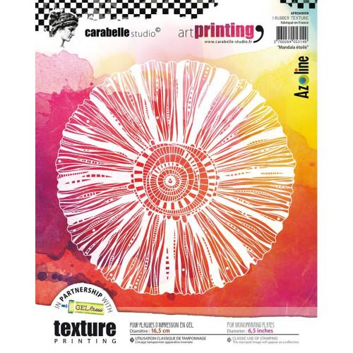 Tampon texture rond Mandala étoilé - 16,5 cm