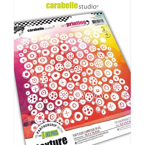 Tampon carré pour Gel Press Scribble Circles - 16,5 x 16,5 cm
