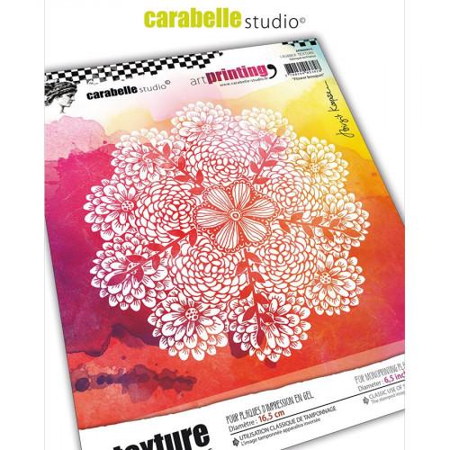Tampon rond pour Gel Press Bouquet de fleurs - 16,5 cm