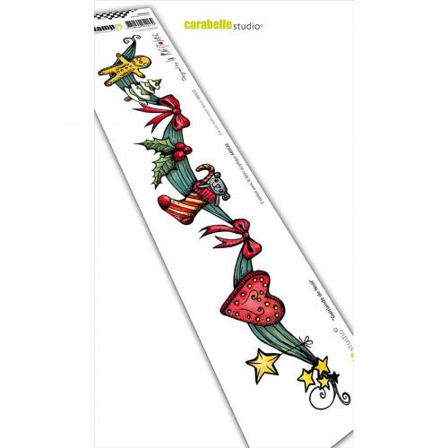 Tampon Cling Bordure Guirlande de Noël - 5 x 29 cm