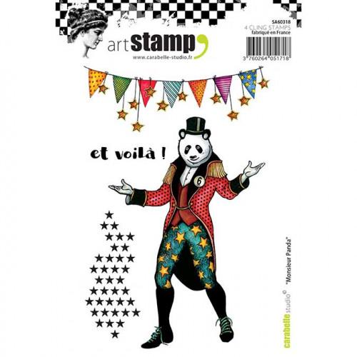 Tampons Cling - Monsieur Panda - 4 pcs