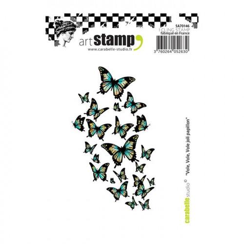 Tampon A7 : Vole, vole, vole joli papillon