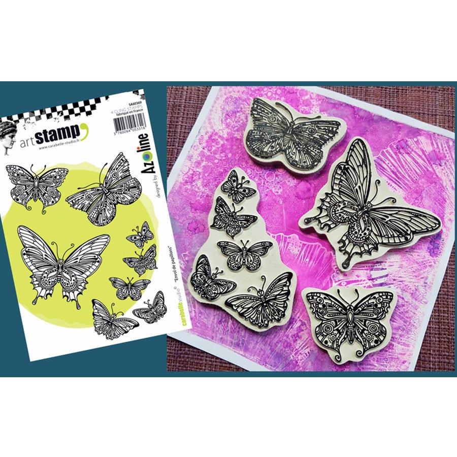 Tampons Cling Envol de papillon - A6