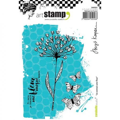 Tampon Cling A6 - Je connais une fleur - B.Koopsen