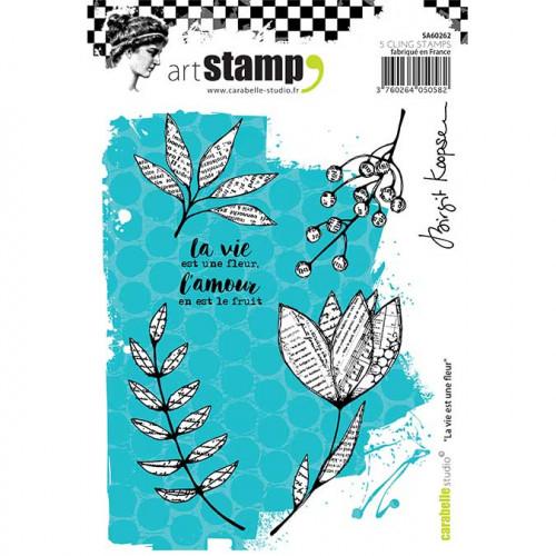 Tampon Cling A6 - La vie est une fleur - B. Koopsen