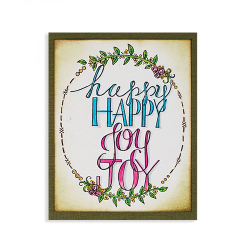 Tampon Cling - Happy Joy - 9,1 x 12,2 cm