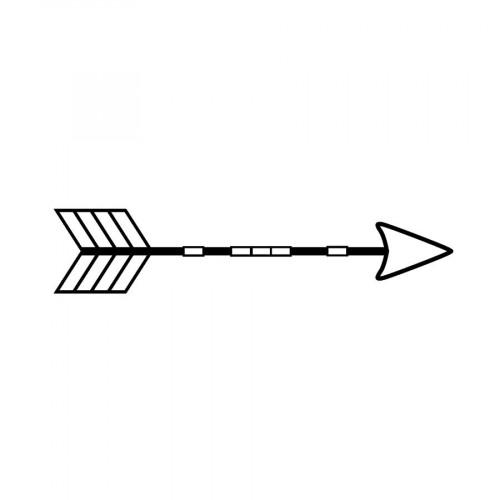 Tampon bois - Totem - Flèche - 2,6 x 3,6 cm
