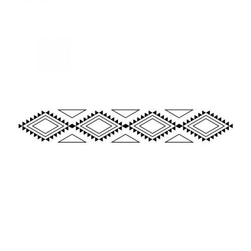 Tampon bois - Totem - Bannière - 2,6 x 10 cm