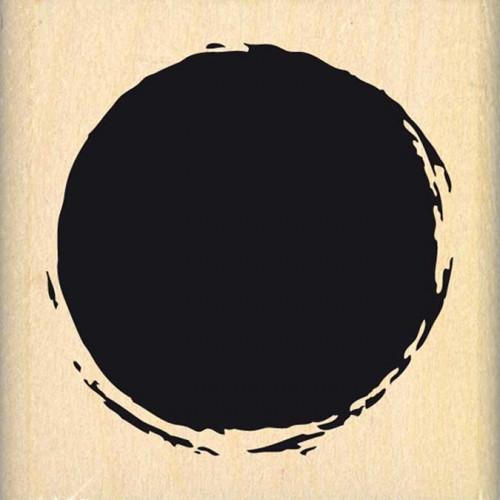 Hello Watercolor - Tampon Bois - Cercle de fond - 5 x 5 cm