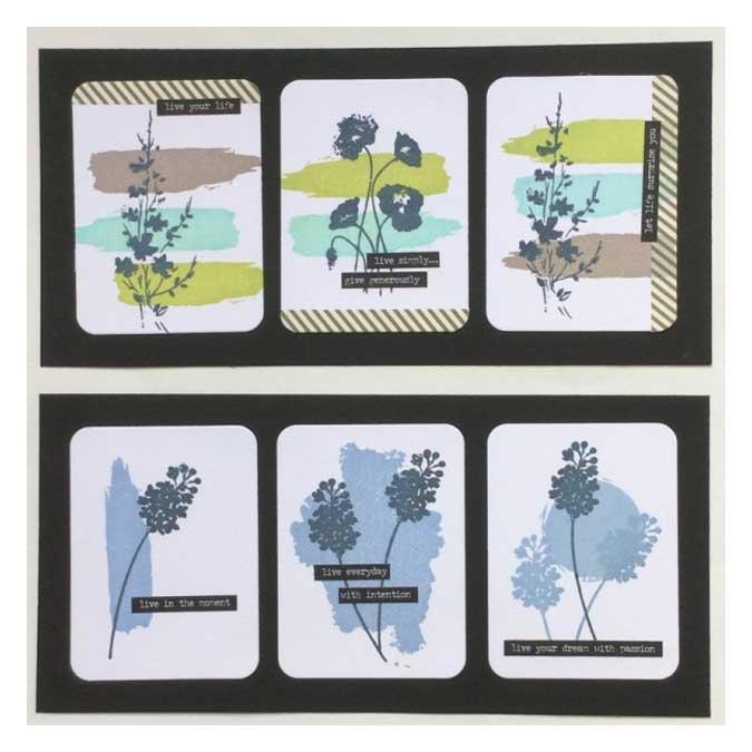 Hello Watercolor - Tampon Bois - Petit coup de pinceau - 3 x 10 cm