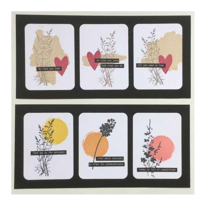 Hello Watercolor - Tampon Bois - Tâche moyenne - 6 x 6 cm
