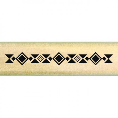 Dakota Valley - Tampon Bois - Ethno bordure - 2 x 7 cm