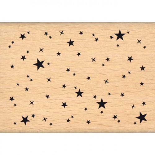 Capsule Janvier 2017 - Tampon bois - Ciel étoilé - 5 x 7 cm