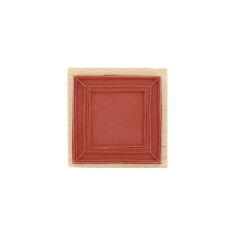 Tampon bois Cadre carré - 8 x 8 cm