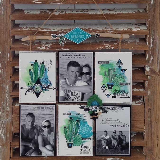 Dakota Valley - Tampon Bois - Pastille tribale - 5 x 5 cm