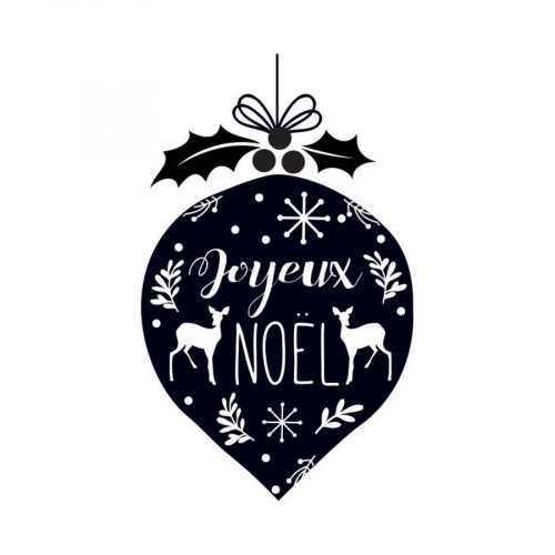 Tampon bois Boule de Noël