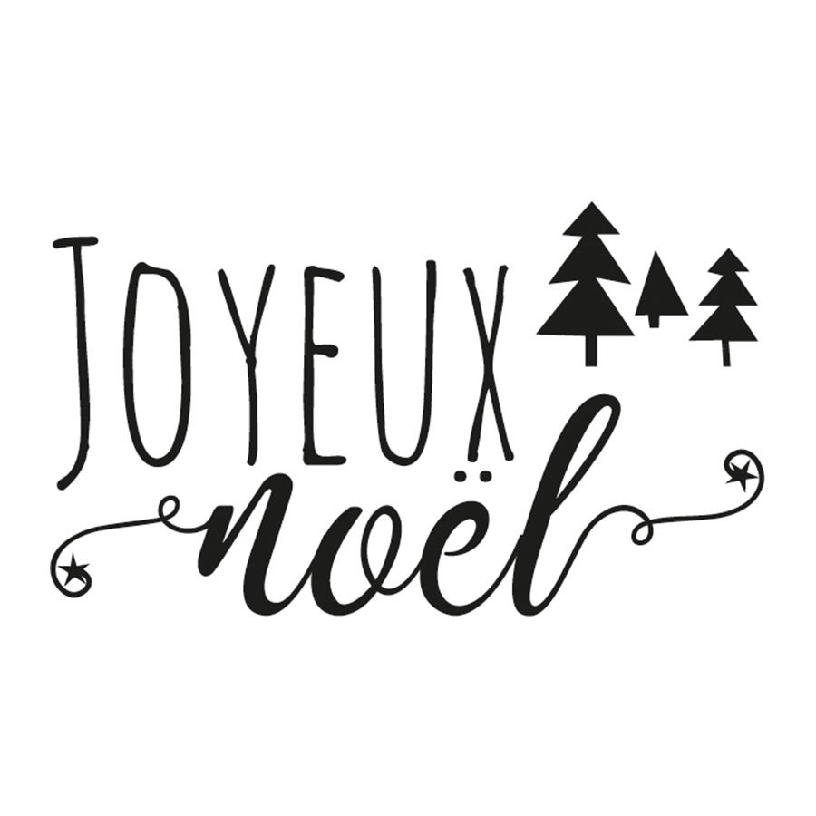 Tampon Joyeux Noel Tampon bois Joyeux Noël   Scrapmalin