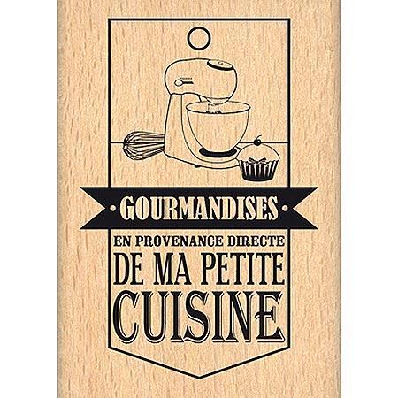 Du Fond du Cœur - Tampon Bois - De Ma Petite Cuisine - 4.2 x 6.5 cm
