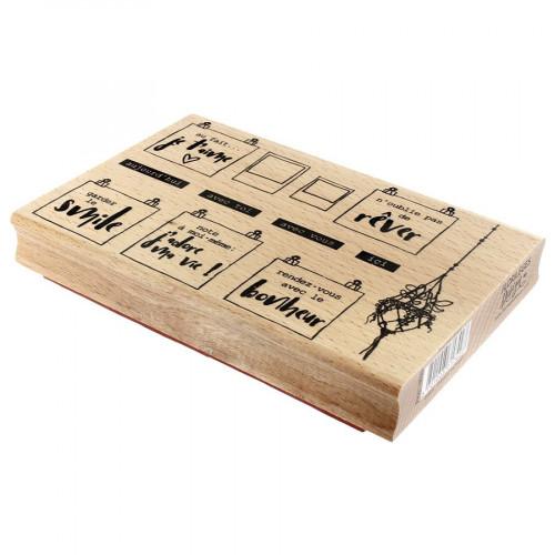 Tampon bois Pour mon board - 15 x 10 cm