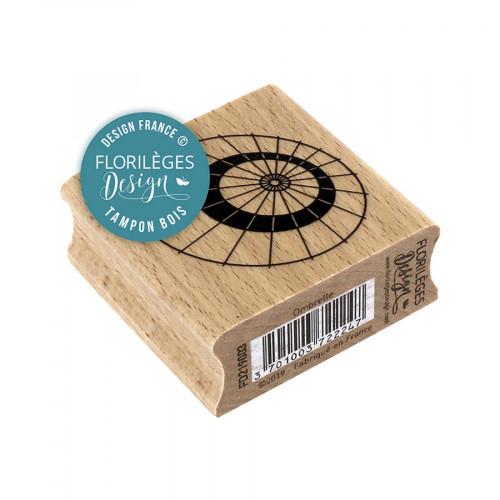 Tampon bois Ombrelle - 5 x 5 cm
