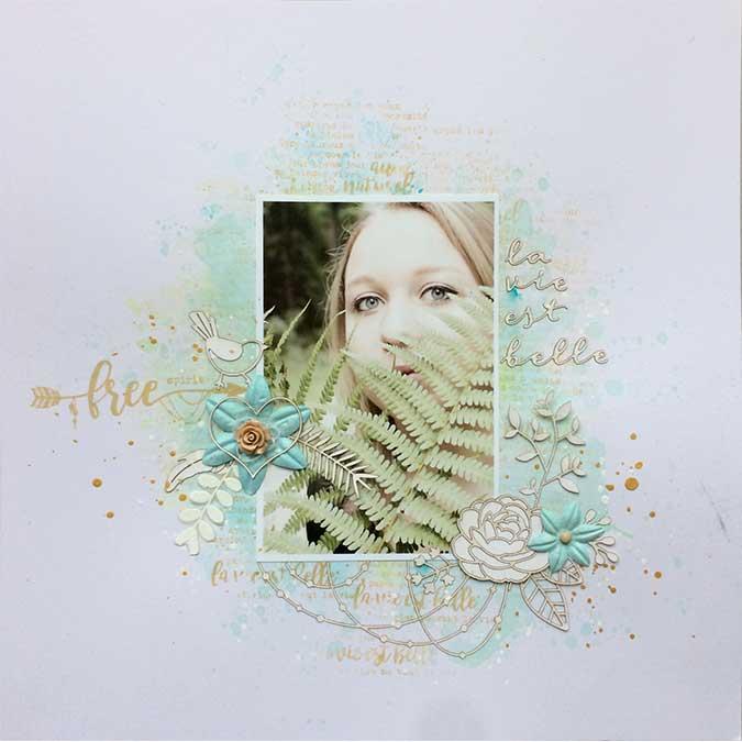 Gypsy Forest - Tampon Bois - Macramé floral - 10 x 13 cm