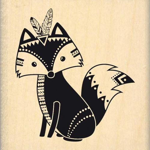 Dakota Valley - Tampon Bois - Boho Fox - 6 x 6 cm