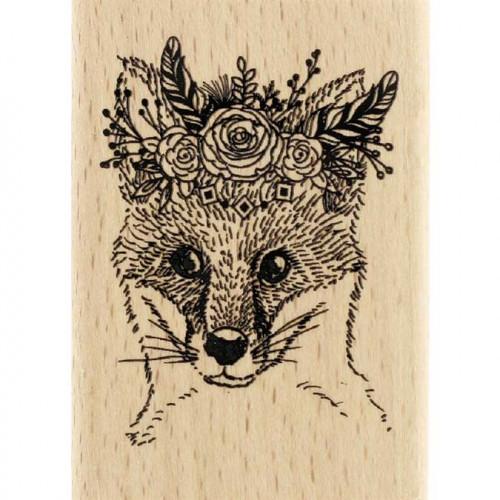 Gypsy Forest - Tampon Bois - Renard Gypsy - 5 x 7 cm