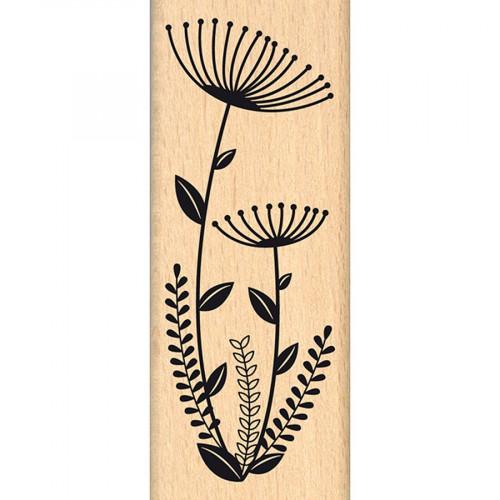 Capsule Avril 2016 - Tampon bois - Fleurs en duo - 4 x 10 cm