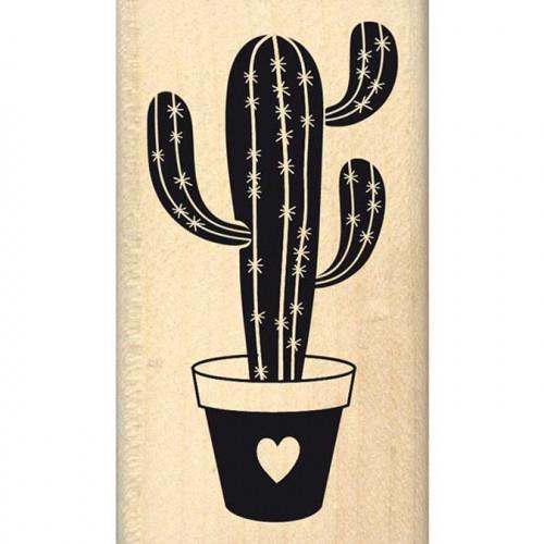 Dakota Valley - Tampon Bois - Cactus d'amour - 4 x 7 cm
