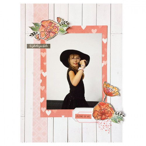 Tampon bois - Fleur sauvage - 5 x 7 cm