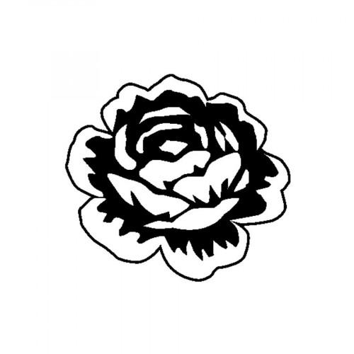 Tampon bois  - Rose - Flower Power - 3,7 x 4 cm