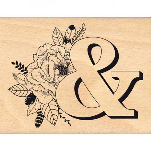 Envolée poétique - Tampon Bois - Esperluette embellie - 10 x 13 cm