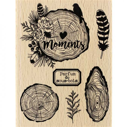 Gypsy Forest - Tampon Bois - Parfum de sous-bois - 10 x 13 cm