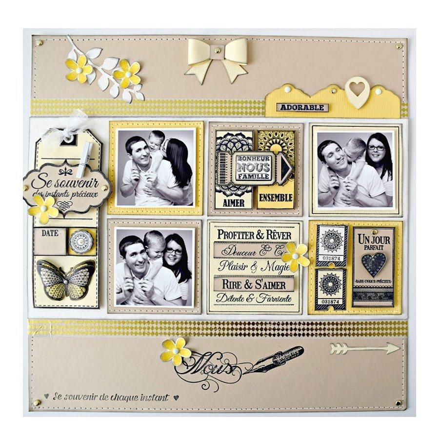 Chiffons & Dentelles - Tampon bois - Mini fleur unie - 3 x 3 cm