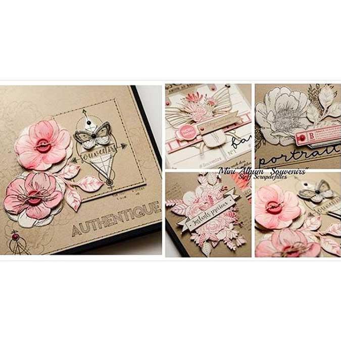 Histoire naturelle - Tampon Bois - Fleurs en boutons - 7 x 10 cm