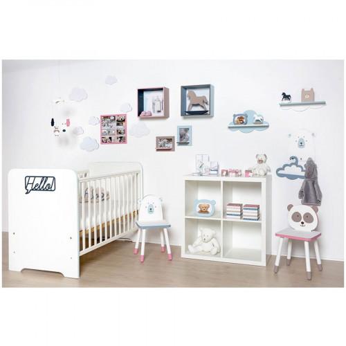 Tampon bois - Adorable - Tête de panda - 2,6 x 2,6 cm