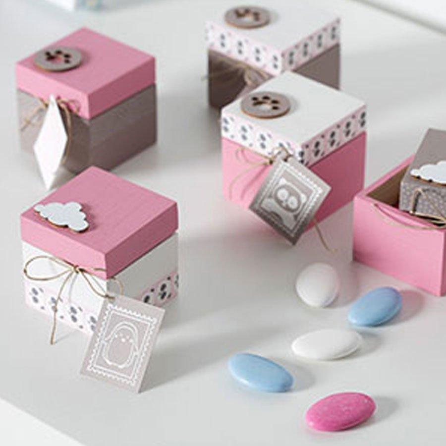 Tampon bois - Adorable - Souris - 3 x 3 cm